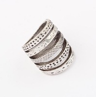 Min.order $10(mix) five loop knuckle ring for women fashion jewelry wholesale 2013 metal vintage rings jewellery