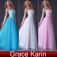 Free Shipping 1pc/lot Grace Karin Prom Strapless Cocktail Ball Party Long Dresses Evening Dress CL3519