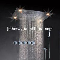 led light shower head embeded ceiling 5 Star International Hotel Led Shower Head