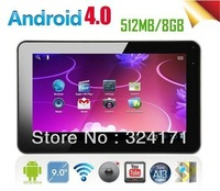 2pcs A13 9inch Capacitive Screen Android 4.0 Tablet PC MID