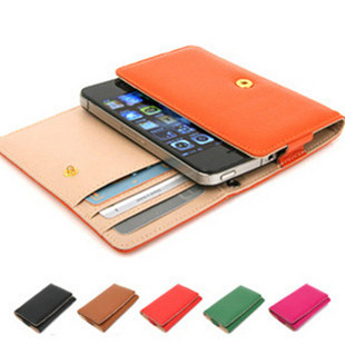 Fresh fashion mobile phone bag for iphone for 5 4s small wallet holsteins 9100 9300 plus size(China (Mainland))