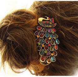 Hair accessory classical peacock crystal hairpin hair accessory small accessories HAIRD(China (Mainland))