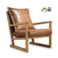 Solid wood art fashionable recreational chair recreational chair sitting room balcony computer chair designer chair
