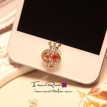 diamond crown skull  phone HOME button stickers