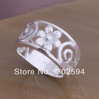 YAR52 Christmas gift  wholesale Elegant flower 925 sterling silver ring / best quality / fashion Charm classic Jewelry