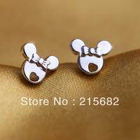 ITALINA Special Korean fashion bow Mickey 925 sterling silver earrings female silver jewelry kedol-SE3