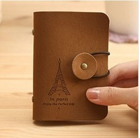 Free shipping Retro romantic tower pile skin round buckle card package.bs0064