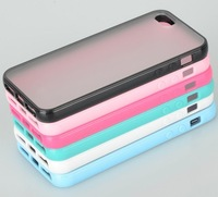 Free shipping 10pcs/lot TPU Rubber Bumper Frame Case Cover For iPhone 5 5G
