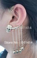 EC025,20pcs/lot retro punk skull clip earrings,hotsale fashion earrings,free shipping ear cuffs