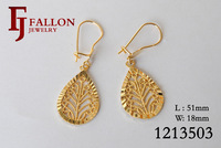 Fashion Women earrings Alloy earring leaf ear clip Christmas Jewelry 100% Excellent Quality 1213503