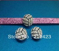 Rhinestone Ball Season!! 20pcs balls Series--Rhinestonevollyball slide charms fit 8mm wristband/belt/pet collar