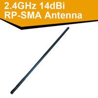 5pcs/lot 2.4GHz High power 14dBi support 802.11 b/g/n Wireless RP-SMA wifi Antenna