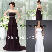 Real sample pictures purple prom dress beaded 2013 White 80&#39;s