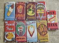 50PCS/LOT  Retro Design Icecream Popcorn Coffee Hard Plastic Case Cover For Touch 5