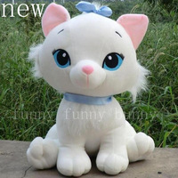 1pcs 2 design for choosing cute white stuffed soft toy marie cat plush doll with bow