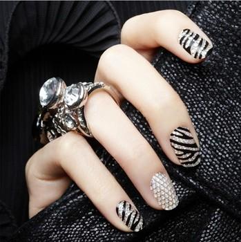 Diy three-dimensional 3d crystal full rhinestone diamond nail polish oil diamond stickers fangzuan nail art applique finger
