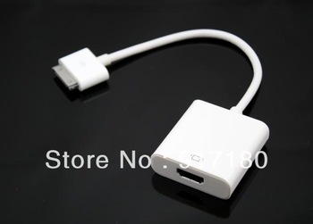 HDMI Dock Connector TV Adapter Cable For iphone 4/4s For ipad 2/3 Free shipping