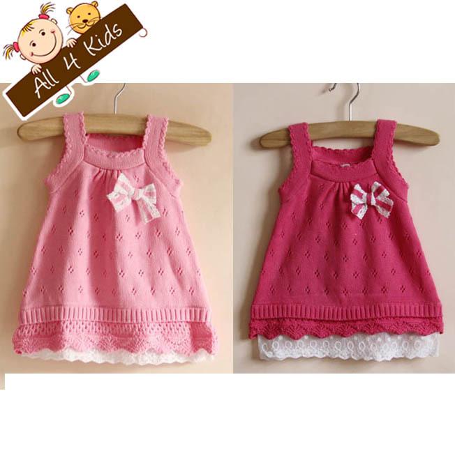 2013-New-Arrive-Baby-Girls-A-line-Dress-Kids-Sundress-Knit-Bow-Knitted ...