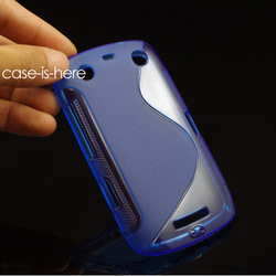 Free Shipping S-Line TPU Gel Skin Cover Case For BlackBerry Curve Touch 9380 (RIM Orlando)(China (Mainland))