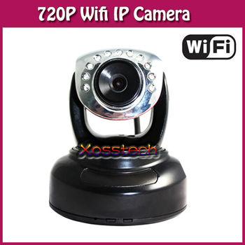 Free Shipping! 720P Pan & Tilt WiFi Camera Outdoor WebCam Night Vision Audio Alarm Recorder