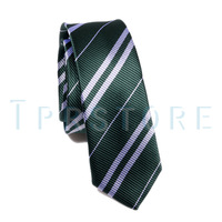 (Green) Nice New Harry Potter Tie Costume Accessory 4 color  #P14-G free shipping