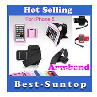 Solf elastic Belt Armband Sport Running Waterproof Sweatproof Armband Case Cover For iphone 5 5G