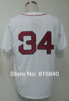 Free Shipping,Wholesale & Retail Baseball Jersey,#34 David Ortiz Jersey,Embroidery and Sewing Logos,Size M--3XL