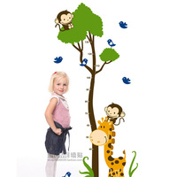 The third generation wall stickers jungle cartoon child real height stickers j7132
