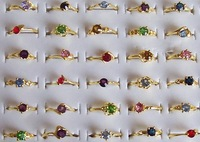 GET 15% OFF IF BUY 100 PCS rhinestone crystal silver-tone rings #022 mixed size new, assorted, fashion costume jewelry