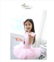 New Pink Kids Girls Leotard Ballet Tutu Dance Costume Princess Dress 3-8Y(China (Mainland))