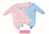 Free shipping wholesale GOOLEKIDS 100% pure cotton long sleeve upgraded baby sleeping bag with foot type for autumn and winter L