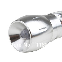 24PCS Free shipping Big Head Flashlight  (Silver)