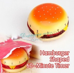 Hamburger Shaped 60-Minute Kitchen Timer Alarm Mechanical Timer Clock Counting(China (Mainland))