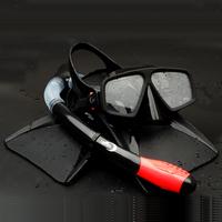 Top snorkeling triratna silica gel box submersible mirror full dry breathing tube all the silica gel short flipper set