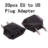 Free Shipping 20pcs/lot EU to US AC Power Plug Travel Adapter Converter Black 88005667