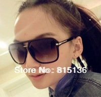 Hot sale!100% UV resistance material vintage fshion two striping metal edge women's sunglasses Min.order is $12 Free shipping