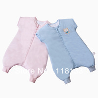 Free shipping wholesale GOOLEKIDS 100% pure cotton short sleeve baby sleeping bag with foot type for spring and autumn