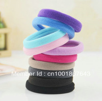 72pcs Mix Colorful elastic hair ties bands/Elastic Hair Loop Ponytail Holder Hair Accessories  JQL001