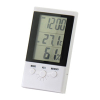 Hx808 high accuracy thermometer hygrometer clock indoor temperature and humidity meter