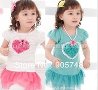 Retail Free Shipping new  Love the stereoscopic roses girls princess gauze dress ocean dress