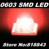 Wholesale-Free Express Shipping! 4000pcs/ reel New 0603 Ultra Bright Red SMD LED