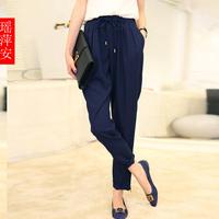 2013 autumn women's fashion vintage drawstring chiffon harem pants female trousers casual pants c652