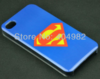 20 X Blue Hero Logo Superman Design Fashion Special Fashion Protector Hard Case for Iphone4 Iphone 4G 4S Free Shipping