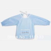 Free shipping wholesale GOOLEKIDS waterproof feeding baby smock/kids overclothes/ Children's vesture Bamboo fibre + cotton