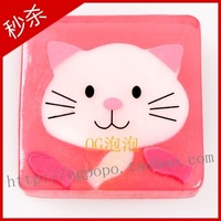 Essential oil soap cartoon stickers cat soap child soap handmade soap