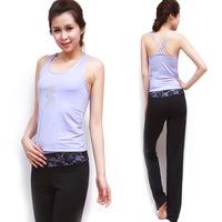 Yoga clothes set Women leotard aerobics vest slim 11529