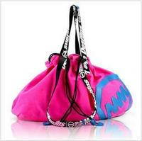 Mm canvas female shoulder bag fashion messenger bag women's handbag