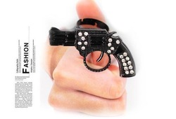 Wholesale(mix order),Min order $15,Fashion Funny Pistol Hand Gun Rings,Boy Ring Jewelry free shipping(China (Mainland))