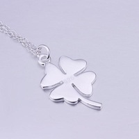 P246 925 Sterling Silver Four Leaf Clover Necklace Pendant Fashion Sterling Silver 925 Jewelry