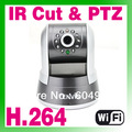 Free Shipping  New 2013 H.264 Wireless WiFi IR-Cut IP Camera CCTV PTZ Webcam IPCAM30